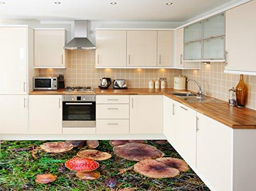 Revestimiento de Suelo 3D para Cocina Vinilo PVC Alfombra Decal Azulejos Pared Art Photo Vif 200cm...
