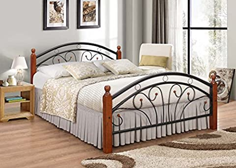 Metal Bed frame with Oak Legs Double bed 7 Star Furniture Dirty Oak Wood Futon Bed Frame. Fast and free