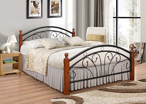 Metal Bed frame with Oak Legs Double bed 7 Star Furniture Dirty Oak Wood Futon Bed Frame. Fast and free Delivery