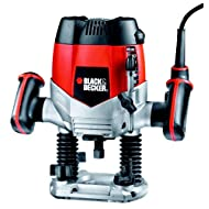 BLACK+DECKER KW900E-GB 1/4-inch Router with 5 Accessories, 1200 W - Black/Orange