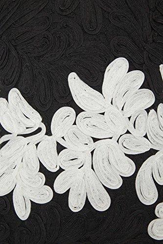 Roman Originals - Robe en Dentelle Sans Manches Longueur Genoux Elegant - Noir Noir