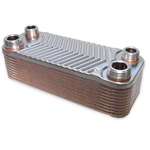 Hrale Échangeur de chaleur thermique inox 20 plaques max. 44 kW Eau Solaire