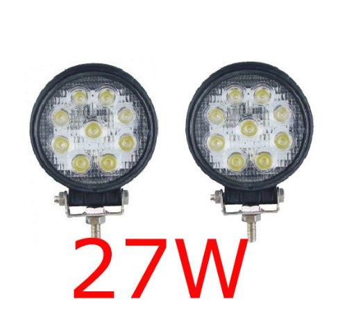 MIRACLE 2 X 27W FARO DA LAVORO LUCE DI PROFONDITA' A LED 27W , 12V 24V LED Lampada Lavoro Offroad Truck Jeep Auto Barca Mining ATV SUV 4WD