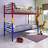 @home by Nilkamal Nemo Single Size Metal Bunk Bed  Glossy Finish, Multicolour