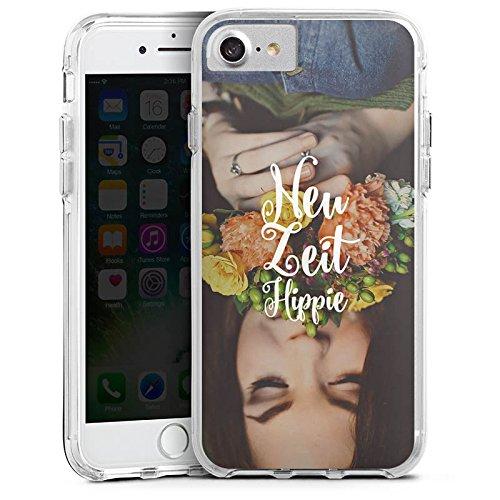 Apple iPhone 8 Bumper Hülle Bumper Case Glitzer Hülle Phrases Sprüche Sayings Bumper Case transparent