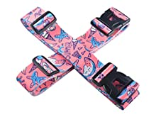 Luggage Straps - Adjustable Suitcase Packing Belts with Buckle Closure Print Suitcase Straps Travel Accessories by Riemot(5 * 200CM+5 * 230CM) Summer