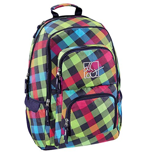 All Out Rucksack (Louth, Rainbow Check, 26 Liter) bunt