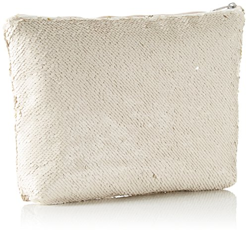 XYXYX Damen Sequins Bag Clutch, 2x23x30 cm Gold (Nude/Gold)