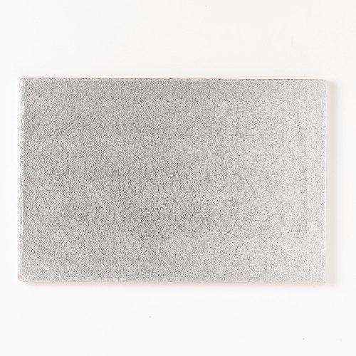 FunCakes Cake Board - rechteckige, silberfarbene Kuchenplatte ca. 40,5 x 30,5cm Rechteckige Platte