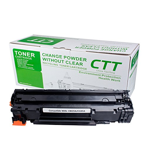 Preisvergleich Produktbild Kompatible Tonerkartusche CB435A/CE285A einfach hinzufügen Powder Umweltschutz Seitenleistung 2500Pro Kartusche Verwendung für HP Laserjet/1005/1006/P1102/1132/1212/1130/P1102W Canon: LBP/3018/lbp3050/lbp3108LBP3010/LBP3100 1 Packung schwarz