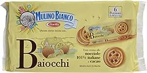 Mulino Bianco Baiocchi Nocciola Biscuits Fourrés aux Noisettes et Cacao 336 g