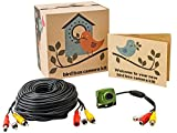 700TVL-Wired-Bird-Box-Camera-with-Audio-Night-Vision-and-20m-30m-50m-AV-Cable-Perfect-Nest-Box-Pack-Bird-House-Kit-RCA-940nm-Invisible-Infrared-Garden-Wildlife-Camera