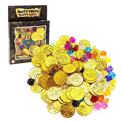 equisiten Maya Goldmünzen Kunststoff Spiel-Dekoration ()