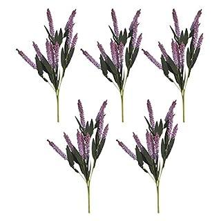 5 STÜCKE Künstliche Simulation Topfpflanzen Gefälschte Blume PE Lavendel Emulation Blume, Outdoor Anti-ultraviolett Lavendel Pseudophyten DIY Hochzeit Balkon Dekoration