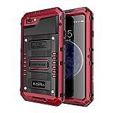 seacosmo Étanche Coque pour iPhone 6S Plus, Étui avec Protecteur D'écran [Antichoc] Robuste Double Protection pour iPhone 6 Plus, Rouge