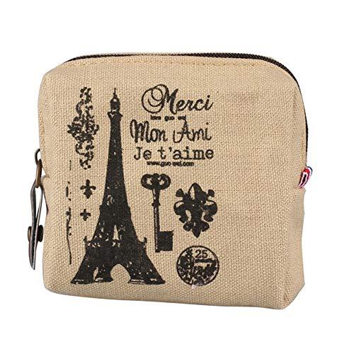 Vintage Classic Women Man Canvas Coin Purse Zip Wallet Small Mini Bag Case Pouch Holder Retro Money Bags Gift