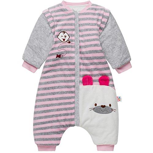 Bebé Saco Dormir Piernas Separable Algodón