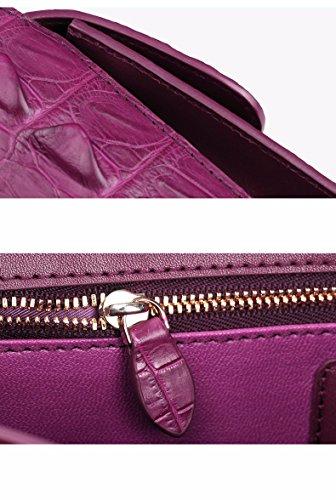lpkone-Motif Crocodile sac bandoulière épaule sac à main mesdames petit paquet de luxe Purple