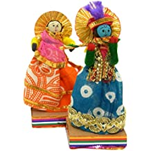 JH Gallery Handmade Recycled Material Figurines/Home Décor/Home Furnishing/Firgurine/Idol/Gifting Idol/Decorative Figurine (11 cm x 11 cm, Pack of 1 Pair, J354)