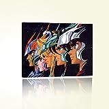Cavalieri dello Zodiaco Stampa su Tela Poster Quadro Canvas