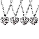 Best Friend Familie Jewelry Set Anhänger Halskette Big Mitte Little Baby Sister Kristall Frauen Mädchen Halskette