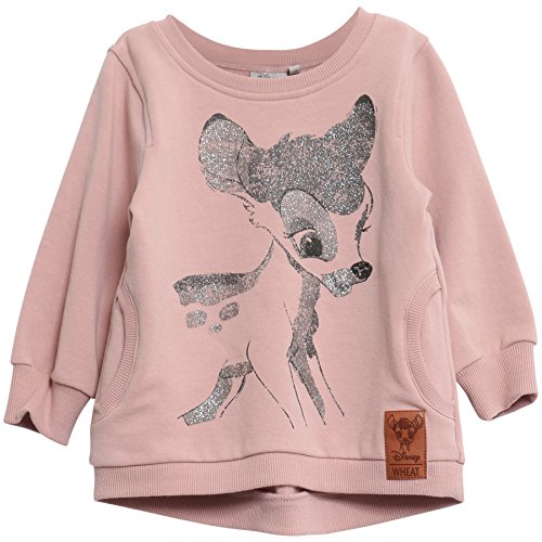 Wheat Baby-Mädchen Sweatshirt Bambi Glitter, Violett (Fawn 3150), 62 (Herstellergröße: 3m)
