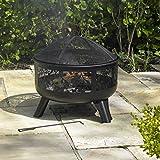 Kingfisher Feuerkorb mit Design an den Seiten, Gartenmöbel