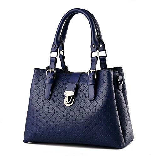 Koson-Man-Borsa Vintage da donna, borsetta per impugnatura, Blu (Blu) - KMUKHB326