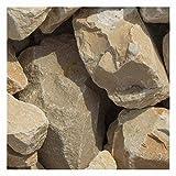 zierkiesundsplitt Yellow Sun Bruchsteine Gabionensteine 1000kg Big Bag 40-60mm, 60-100mm (40-60mm)