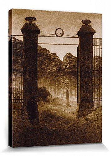 1art1 111276 Caspar David Friedrich - Friedhofseingang, 1825, Sepia Poster Leinwandbild Auf...