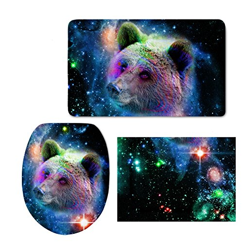 Druck Animal WC-Sitz Flanell Galaxy Star WC Matte, Flanell, color 11, M (11. Platz Halloween)