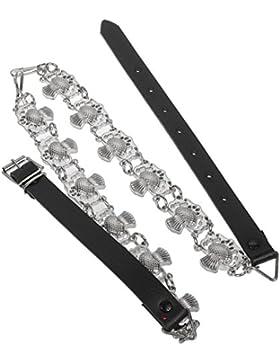 I Luv LTD Sporran Chain Belt Thistle Chrome