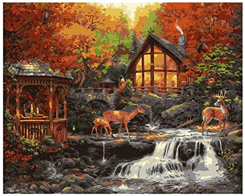 Creek Deer Puzzle 1000 Teile Für Erwachsene Aus Holz Klassische Geschenke Für Mann Frau Aktive Köpfe Deer Creek Cottage