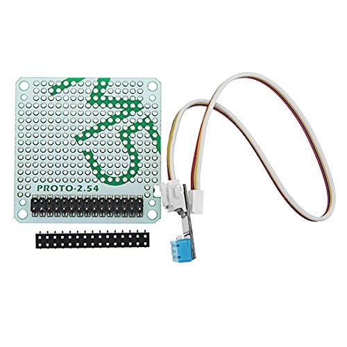 BliliDIY Protoboard Sperimentale Con Dht12 Sensore Di Umidità Della Temperatura Bus Bus Calzino Cavo Grove Esp32 Basic Mpu9250 Kit Per Arduino