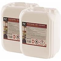 Höfer Chemie 20 L Bioethanol 100% Premium (2 x 10 L) für Ethanol Kamin, Ethanol Feuerstelle, Ethanol Tischfeuer und Bioethanol Kamin