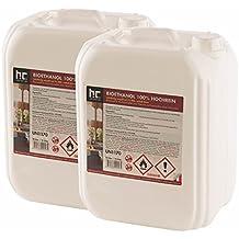 Höfer Chemie 20 L Bioethanol (2 x 10 L) für Ethanol Kamin, Ethanol Feuerstelle, Ethanol Tischfeuer und Bioethanol Kamin