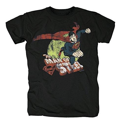 TSP The Man of Steel - Superman T-Shirt Herren S Schwarz
