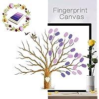Cuadro DIY de VANCORE, árbol con hojas de huellas dactilares, regalo creativa y significativo