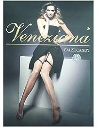 Bas Voile Micro Jarretelles Candy Noir Veneziana