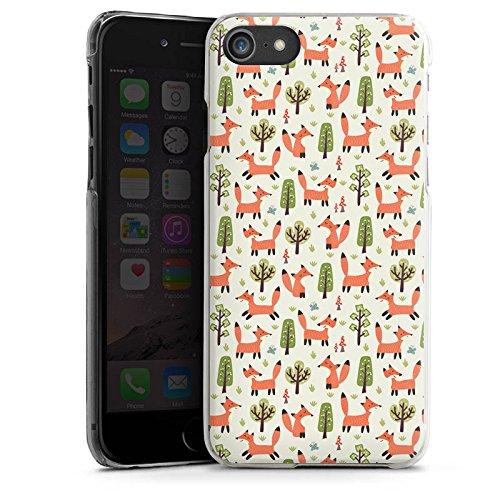Apple iPhone 7 Plus Silikon Hülle Case Schutzhülle Fuchs Muster Füchse Comic Hard Case transparent
