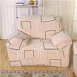 Fiesta Floral Geometric Print Spandex Stretch Sofa Cover Hussen Elastische All-Inclusive Sektional Couch Hülle für Wohnzimmer: 8, Dreisitzer
