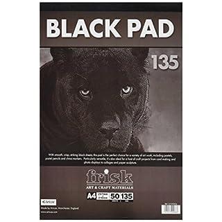 Frisk 135 g A4 Paper Pad, Pack of 50 Sheets, Black