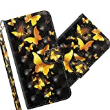 COTDINFOR LG K50 Case Wallet Cool Animal 3D Effect Painted