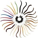 Beauty7 Correctores de Color de Extensiones Pelucas de Pelo Anillos de Muestras de Colores de Cabello Natural