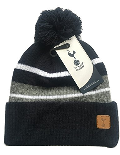 402e62245f9 Mens Official Spurs Tottenham Hotspur FC Stripe Beanie Knitted Bobble Hat