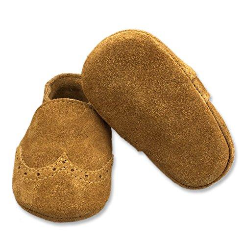 Fire Frog  Baby Genuine Leather Shoes, Baby Jungen Lauflernschuhe Khaki