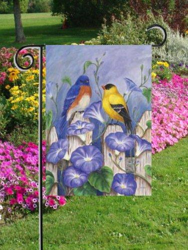 0025FM-Bluebird Oro Finch uccello Amici Mini Bandiera