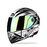 YMQC Motorcycle Helmet,Casque Moto Modulable Casque De Vélo Moto Et Autres Sports De...