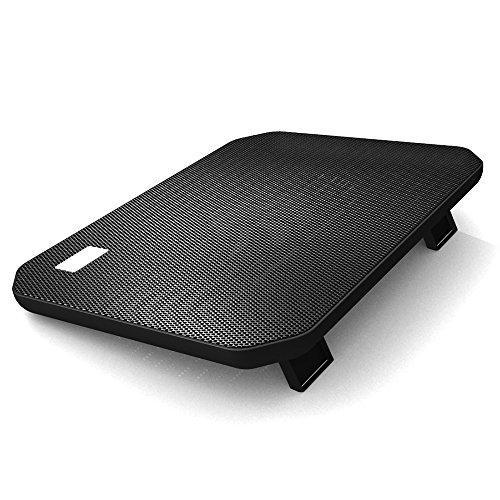 KKmoon NUOXI USB Laptop Kühler Notebook Kühler 2 Lüfter Kühlung Stand Pad Blaue LED für 12-15,6 Zoll Laptop