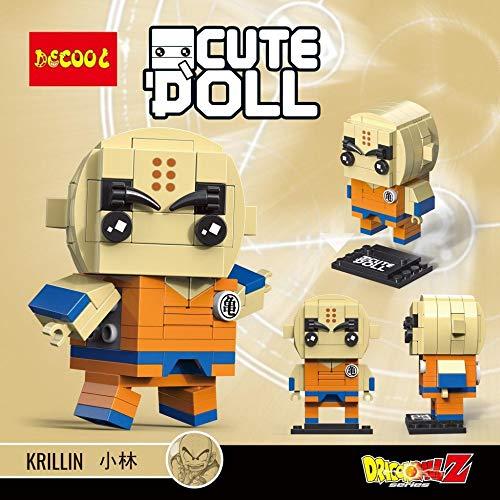 CuteDoll Figura de Krillin Krilin Dragonball Dragon Ball Puzzle Juego Bloques de construccion tamaño 9 cm DIY Mini Building Puzzle Juguete niños colección